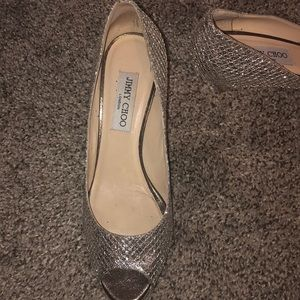 Jimmy Choo Shoes - Jimmy choo silver shoes
